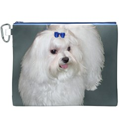 Maltese Full 2 Canvas Cosmetic Bag (XXXL)