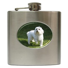 Maltese Full Hip Flask (6 oz)