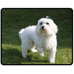 Maltese Full Double Sided Fleece Blanket (Medium)