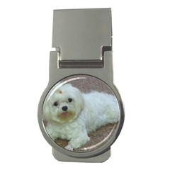 Maltese Laying Money Clips (Round)