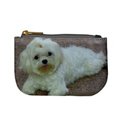 Maltese Laying Mini Coin Purses