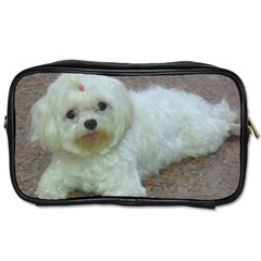 Maltese Laying Toiletries Bags 2-Side