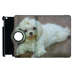 Maltese Laying Apple iPad 3/4 Flip 360 Case