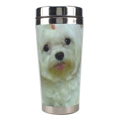 Maltese Laying Stainless Steel Travel Tumblers
