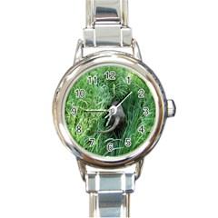 Weim In The Grass Round Italian Charm Watch