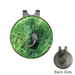 Weim In The Grass Hat Clips with Golf Markers