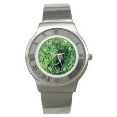 Weim In The Grass Stainless Steel Watch