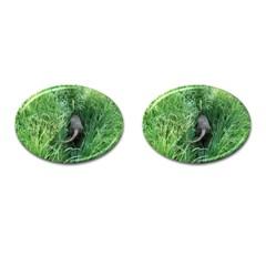 Weim In The Grass Cufflinks (oval)