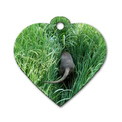 Weim In The Grass Dog Tag Heart (Two Sides)