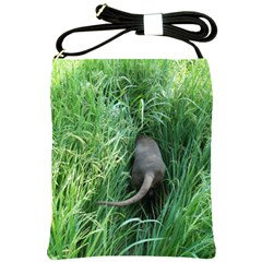Weim In The Grass Shoulder Sling Bags