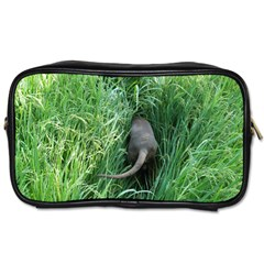 Weim In The Grass Toiletries Bags