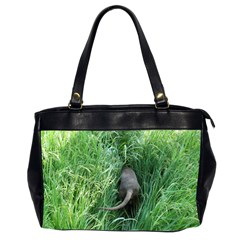 Weim In The Grass Office Handbags (2 Sides)