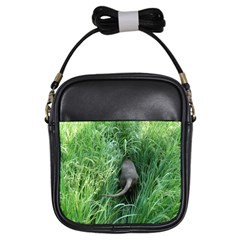 Weim In The Grass Girls Sling Bags