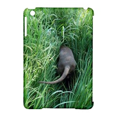 Weim In The Grass Apple iPad Mini Hardshell Case (Compatible with Smart Cover)