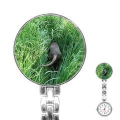 Weim In The Grass Stainless Steel Nurses Watch