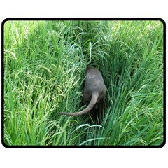 Weim In The Grass Double Sided Fleece Blanket (Medium)
