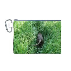Weim In The Grass Canvas Cosmetic Bag (M)