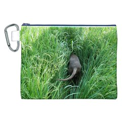 Weim In The Grass Canvas Cosmetic Bag (XXL)