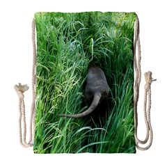 Weim In The Grass Drawstring Bag (Large)
