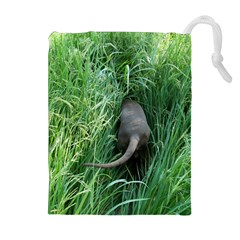 Weim In The Grass Drawstring Pouches (Extra Large)
