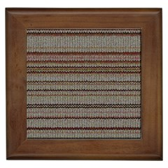 Stripy Knitted Wool Fabric Texture Framed Tiles