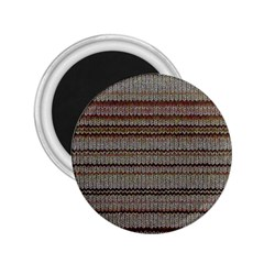 Stripy Knitted Wool Fabric Texture 2.25  Magnets