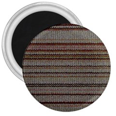 Stripy Knitted Wool Fabric Texture 3  Magnets