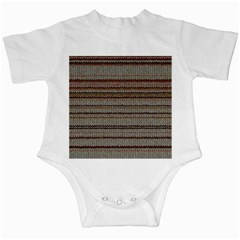 Stripy Knitted Wool Fabric Texture Infant Creepers