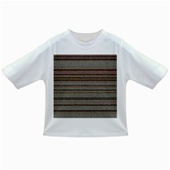 Stripy Knitted Wool Fabric Texture Infant/Toddler T-Shirts