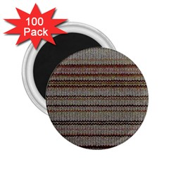 Stripy Knitted Wool Fabric Texture 2 25  Magnets (100 Pack)