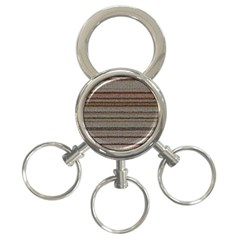 Stripy Knitted Wool Fabric Texture 3-Ring Key Chains