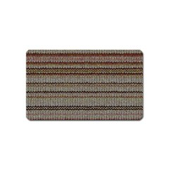 Stripy Knitted Wool Fabric Texture Magnet (name Card)