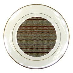 Stripy Knitted Wool Fabric Texture Porcelain Plates