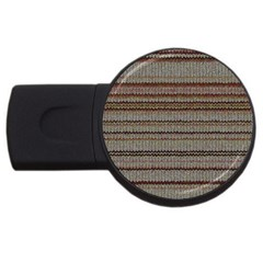 Stripy Knitted Wool Fabric Texture USB Flash Drive Round (4 GB)