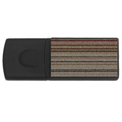 Stripy Knitted Wool Fabric Texture USB Flash Drive Rectangular (4 GB)