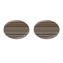 Stripy Knitted Wool Fabric Texture Cufflinks (oval)
