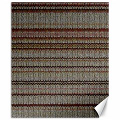 Stripy Knitted Wool Fabric Texture Canvas 8  X 10