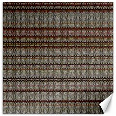 Stripy Knitted Wool Fabric Texture Canvas 12  X 12