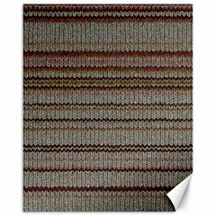 Stripy Knitted Wool Fabric Texture Canvas 16  X 20