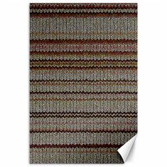 Stripy Knitted Wool Fabric Texture Canvas 24  X 36