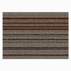 Stripy Knitted Wool Fabric Texture Large Glasses Cloth