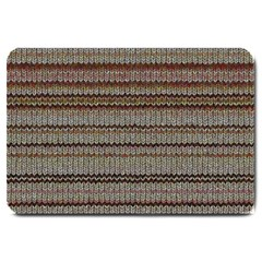 Stripy Knitted Wool Fabric Texture Large Doormat