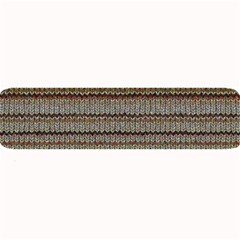 Stripy Knitted Wool Fabric Texture Large Bar Mats