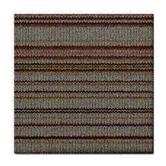 Stripy Knitted Wool Fabric Texture Face Towel