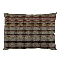 Stripy Knitted Wool Fabric Texture Pillow Case