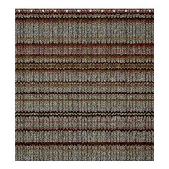 Stripy Knitted Wool Fabric Texture Shower Curtain 66  X 72  (large)