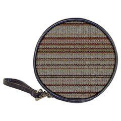 Stripy Knitted Wool Fabric Texture Classic 20 Cd Wallets