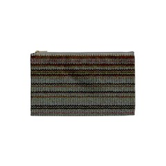 Stripy Knitted Wool Fabric Texture Cosmetic Bag (small)