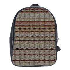 Stripy Knitted Wool Fabric Texture School Bags(Large)