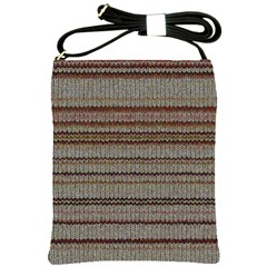 Stripy Knitted Wool Fabric Texture Shoulder Sling Bags